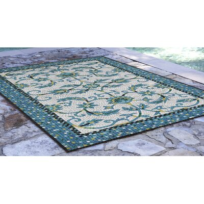 Verrett Handmade Blue Indoor/Outdoor Area Rug Rug Size: Rectangle 36 x 56