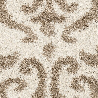 Hall Brown/Beige Area Rug Rug Size: Round 4