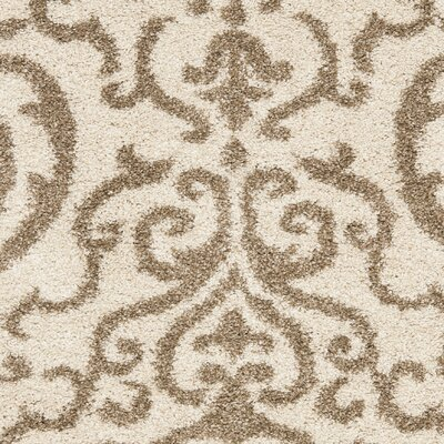 Hall Brown/Beige Area Rug Rug Size: 33 x 53