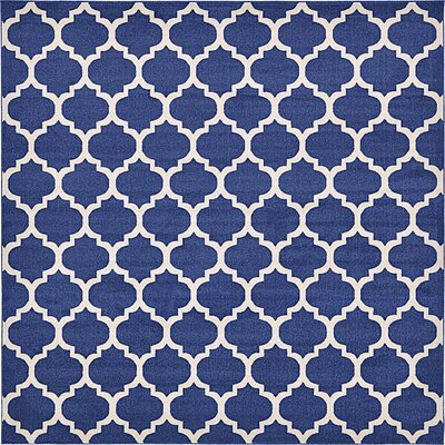 Coughlan Blue/Ivory Area Rug Rug Size: Square 10
