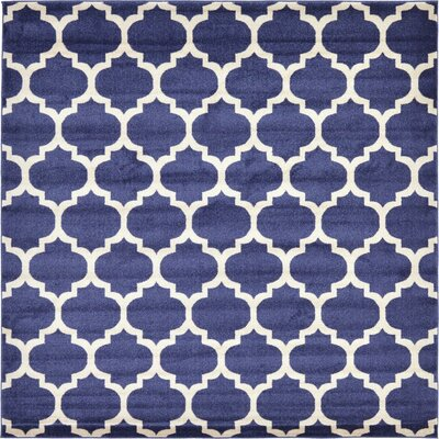 Coughlan Navy Area Rug Rug Size: Square 8'