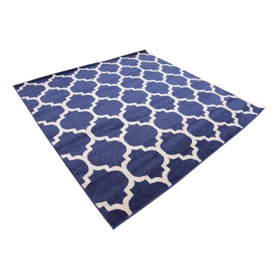 Coughlan Blue/Ivory Area Rug Rug Size: Square 6