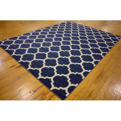 Coughlan Blue/Ivory Area Rug Rug Size: Rectangle 9 x 12