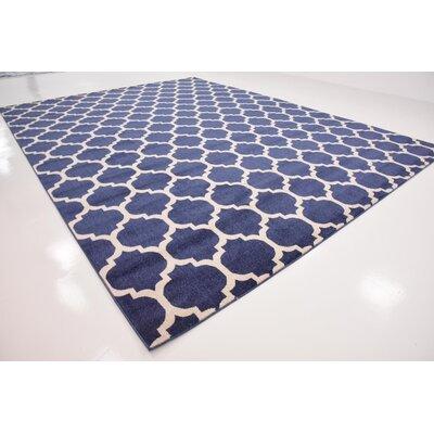 Coughlan Blue/Ivory Area Rug Rug Size: Rectangle 122 x 16