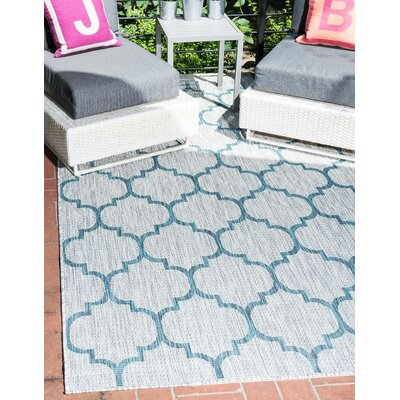Hannah Gray Outdoor Area Rug Rug Size: Rectangle 4 x 6