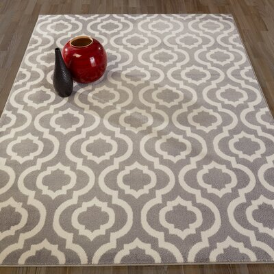 Howard Gray Area Rug Rug Size: Rectangle 67 W x 93 L
