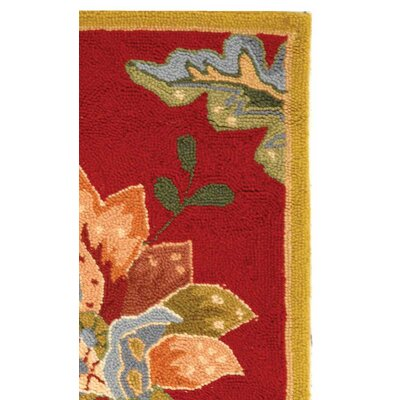 Helena Floral Area Rug Rug Size: Rectangle 18 x 26