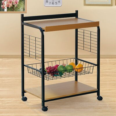 Kitchen Cart Base Finish: Black/Beech