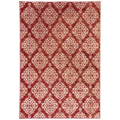 Morocco Terracotta/Ivory Area Rug Rug Size: Rectangle 311 x 53