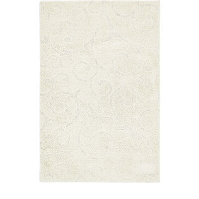 Albers Floral Ivory Area Rug Rug Size: Rectangle 4 x 6