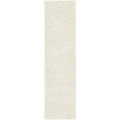 Albers Floral Ivory Area Rug Rug Size: Runner 27 x 10