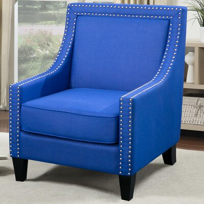 Lyn Solid Wood Armchair Upholstery: Blue