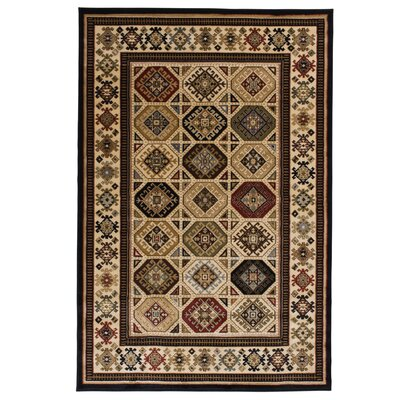Gerace Brown/Ivory Area Rug Rug Size: Rectangle 5 x 76