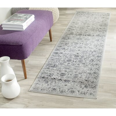 Rindge Gray/Ivory Area Rug Rug Size: Rectangle 23 x 39