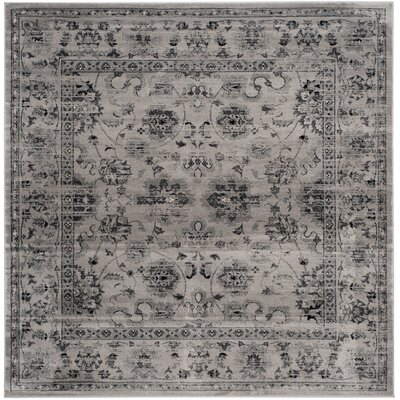 Rindge Gray/Ivory Area Rug Rug Size: Square 67