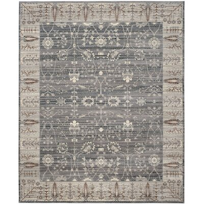Filton Dark Gray/Light Gray Area Rug Rug Size: Rectangle 5 x 8