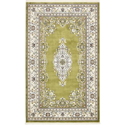Courtright Green Area Rug Rug Size: Rectangle 5 x 8