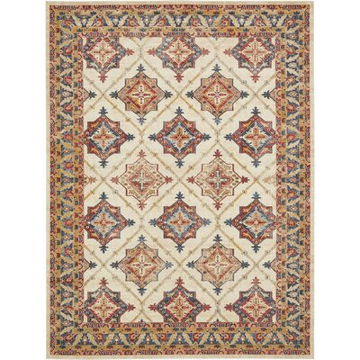 Applewood Cream Area Rug Rug Size: Rectangle 9 x 12