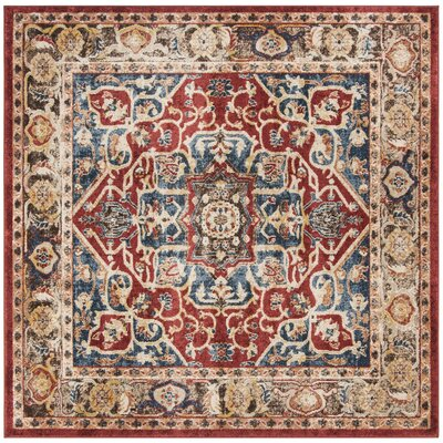Broomhedge Red/Beige Area Rug Rug Size: Square 67