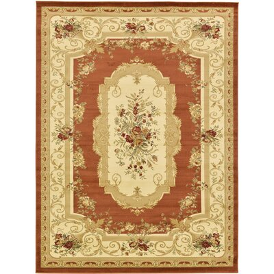 Oskar Brick Red Area Rug Rug Size: Rectangle 9 x 12