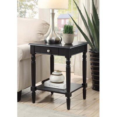 Carlisle End Table Top Color: Black