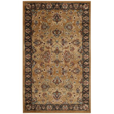 Lowe Beige/Brown Area Rug Rug Size: Rectangle 3 x 5