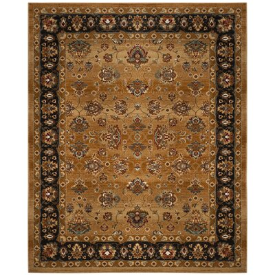 Lowe Beige/Brown Area Rug Rug Size: Rectangle 10 x 14