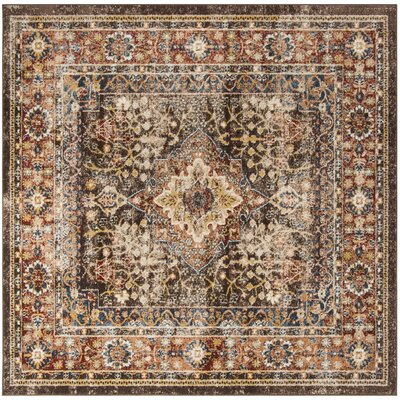 Broomhedge Brown/Rust Area Rug Rug Size: Square 67