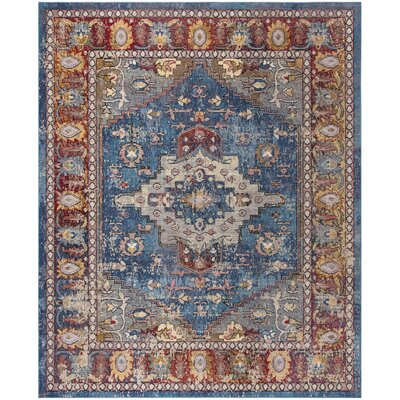 Raabe Blue/Rose Area Rug Rug Size: Rectangle 10 x 14