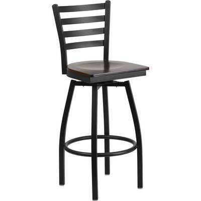 Alhambra 30.25 Swivel Bar Stool Seat Finish: Walnut