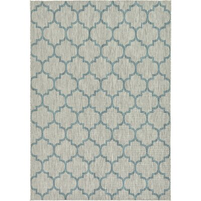Hannah Gray Outdoor Area Rug Rug Size: Rectangle 9 x 12