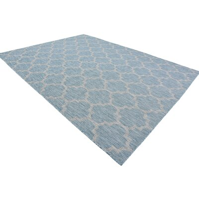 Downtown Tribeca Blue/Gray Area Rug Rug Size: Round 8