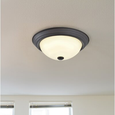 Fleetwood 1-Light LED Flush Mount Fixture Finish: Oil Rubbed Bronze