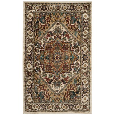 One-of-a-Kind Lowe Beige/Gray Area Rug Rug Size: Rectangle 3 x 5