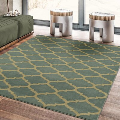 Steadham Sage Green Area Rug Rug Size: Rectangle 53 x 7