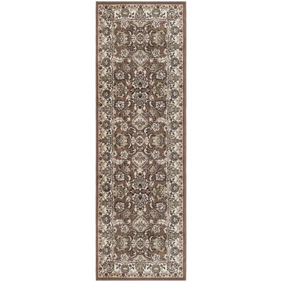 Castine Brown Area Rug Rug Size: Runner 27 x 8