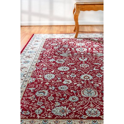 Morocco Red Area Rug Rug Size: Rectangle 92 x 1210
