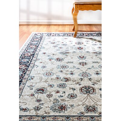 Morocco Ivory Area Rug Rug Size: Rectangle 53 x 77