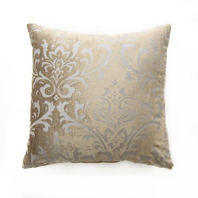Meriwether Damask Pillow Cover Color: Taupe