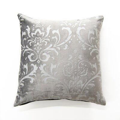 Meriwether Damask Pillow Cover Color: Gray