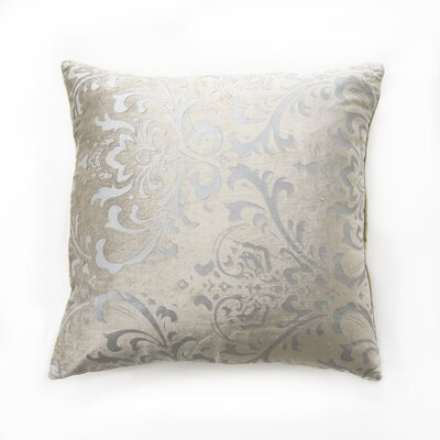 Meriwether Damask Pillow Cover Color: Beige
