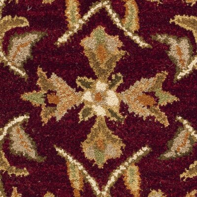 Cranmore Red/Gold Area Rug Rug Size: Rectangle 2 x 3