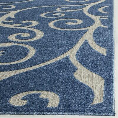 Bryan Blue/Cream Indoor/Outdoor Area Rug Rug Size: 8 x 112