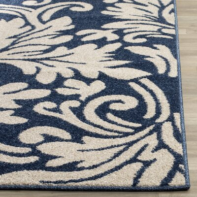 Neil Navy/Ivory Indoor/Outdoor Area Rug Rug Size: Rectangle 5 x 8