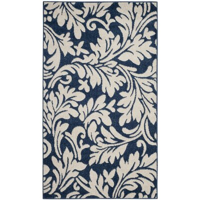 Neil Navy/Ivory Indoor/Outdoor Area Rug Rug Size: Rectangle 4 x 6