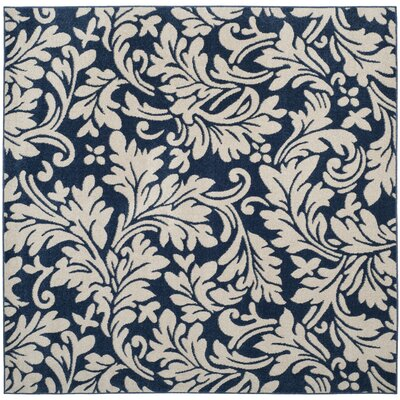 Neil Navy/Ivory Indoor/Outdoor Area Rug Rug Size: Square 7 x 7
