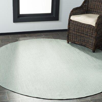 Poole Green/Beige Indoor/Outdoor Area Rug Rug Size: Round 67