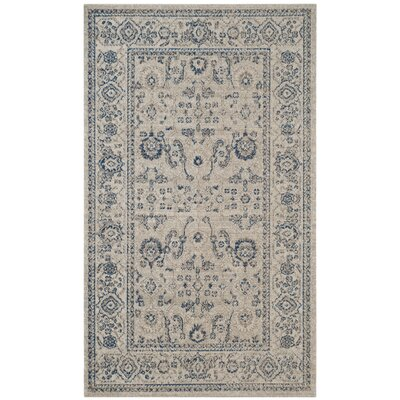 Nielsen Gray/Ivory Area Rug Rug Size: Rectangle 3' x 5'