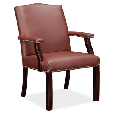 Trumer Wood Guest Chair Seat Color: Burgundy