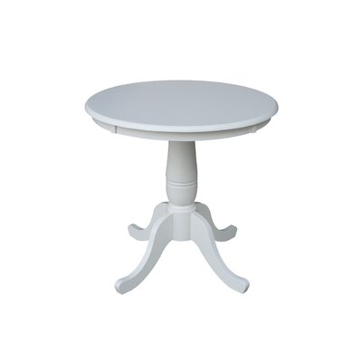 Doylan Dining Table Size: 36, Finish: Linen